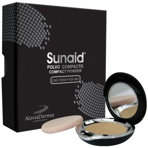 novaderma-protector-solar-sunaid-polvo-compacto-claro